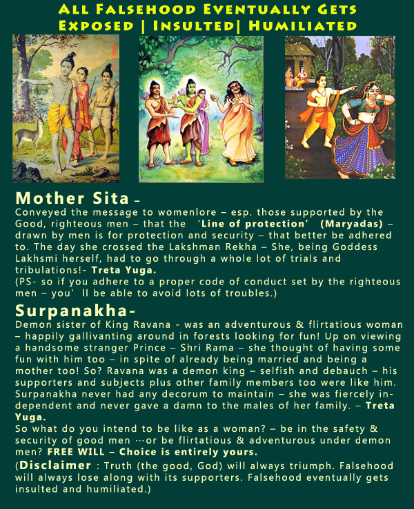 Who would you rather be like – Mother Sita or Princess Surpanakha?