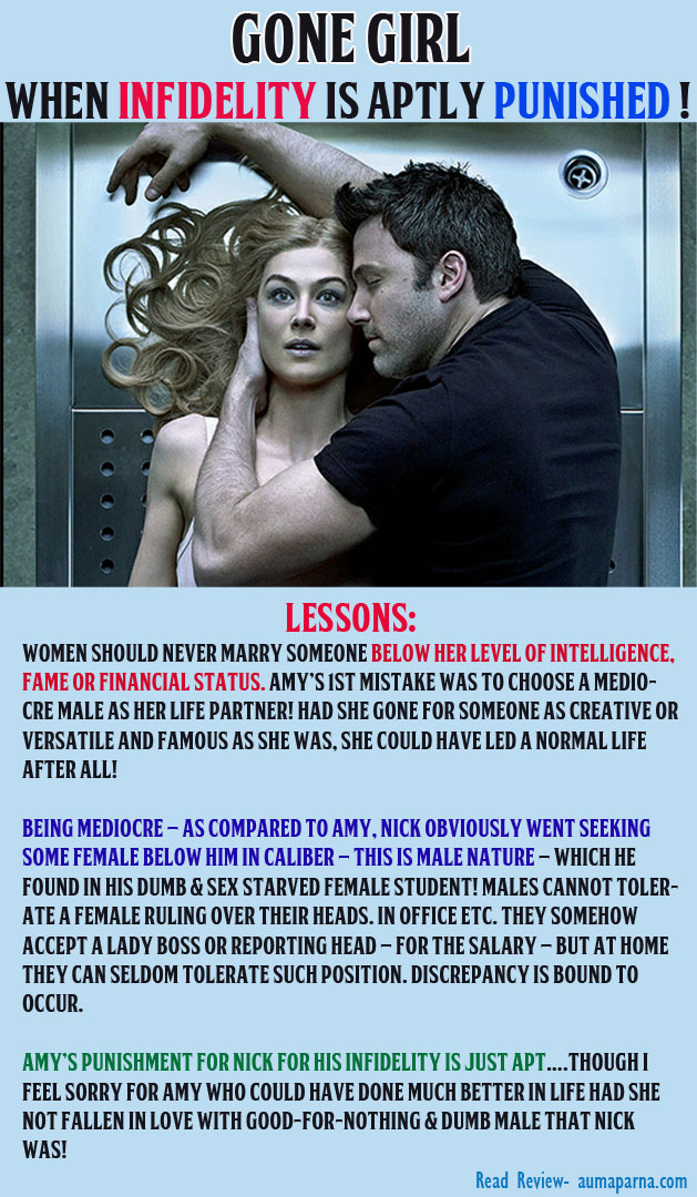 Gone Girl – When Infidelity Is Aptly Punished !